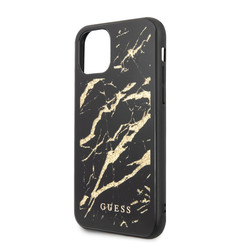 Guess Apple iPhone 11 Goud Backcover hoesje - GUHCN61MGGBK