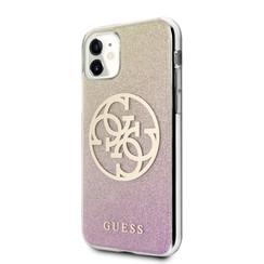 Guess Apple iPhone 11  Goud Backcover hoesje - GUHCN61PCUGLPGG