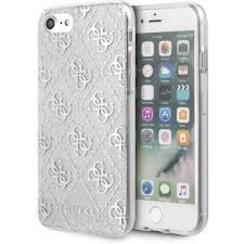 Apple iPhone 7-8 Zilver Guess Backcover hoesje GUHCI8PCU4GLSI - TPU - GUHCI8PCU4GLSI