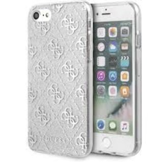 Apple iPhone 7-8 Zilver Guess Backcover hoesje GUHCI8PCU4GLSI - TPU - GUHCI8PCU4GLSI