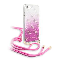 Apple iPhone 7-8 Roze Guess Backcover hoesje GUHCI8WO4GPI - Electroplated - GUHCI8WO4GPI