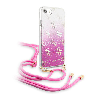 Apple iPhone 7-8 Roze Guess Backcover hoesje GUHCI8WO4GPI - Electroplated - GUHCI8WO4GPI