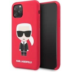 Apple iPhone 11 Karl Lagerfeld Back cover coque KLHCN61SLFKRE Rouge