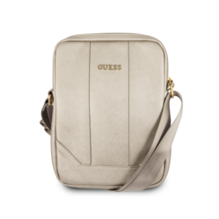 Guess, 8-10-11  inch type Tablettas  ,(messenger tas), 8-10 -11 inch voor o.a. HP, Dell, Asus, Acer, Medion, Toshiba, Lenovo, Microsoft, Peaq, etc., Beige, - Saffiano,  Collection,- GUTB10TBE,