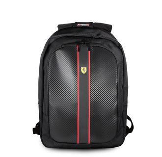 Ferrari Collectie -11-13.3-15 inch Laptoptas type Rugtas voor laptop en notebook (messenger tas),11-15 inch voor o.a. HP, Dell, Asus, Acer, Medion, Toshiba, Lenovo, Macbook, Microsoft, Peaq etc.,  Zwart Rugtas - Urban Collection - FESNMBP15BK