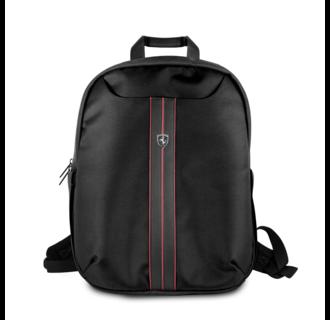 Ferrari Collectie -11-13,-15 inch Laptoptas type Rugtas voor laptop en notebook (messenger tas), 11-15 inch voor o.a. HP, Dell, Asus, Acer, Medion, Toshiba, Lenovo, Macbook, Microsoft, Peaq etc.,  Zwart, Rugtas - Urban Collection - FEURBPS15BK