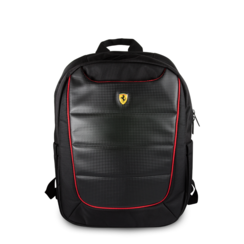 Ferrari Collectie -11-12-13.3-15 inch Laptoptas type Rugtas voor laptop en notebook (messenger tas), 11-15 inch voor o.a. HP, Dell, Asus, Acer, Medion, Toshiba, Lenovo, Macbook, Microsoft, Peaq etc.,  Zwart Rugtas - Urban, Collection,  FEBP15BK