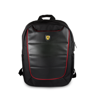 Ferrari Collectie -11-12-13.3-15 inch Laptoptas type Rugtas voor laptop en notebook (messenger tas), 11-15 inch voor o.a. HP, Dell, Asus, Acer, Medion, Toshiba, Lenovo, Macbook, Microsoft, Peaq etc.,  Zwart Rugtas - Urban, Collection,  FEBP15BK
