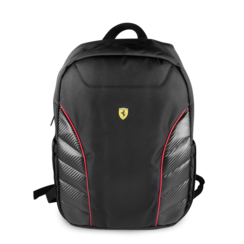Ferrari Collectie -11-13.3-15 inch Laptoptas type Rugtas voor laptop en notebook (messenger tas), 11-15 inch voor o.a. HP, Dell, Asus, Acer, Medion, Toshiba, Lenovo, Macbook, Microsoft, Peaq etc,  Zwart, Scuderia, - FESRBBPCO15BK