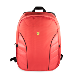 Ferrari Collectie -11-13.3-15 inch Laptoptas type Rugtas voor laptop en notebook (messenger tas), 11-15 inch voor o.a. HP, Dell, Asus, Acer, Medion, Toshiba, Lenovo, Macbook, Microsoft, Peaq etc,  Rood, Scuderia, -FESRBBPCO15RE,
