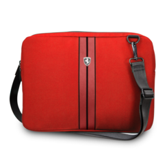 Ferrari 11-12-13  inch Laptoptas type schoudertas voor laptop en notebook (messenger tas), 11-12 -13 inch voor o.a. HP, Dell, Asus, Acer, Medion, Toshiba, Lenovo, Macbook, Microsoft, Peaq etc., Rood , - Urban Collection -FEURCSS13RE