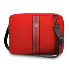 Ferrari Urban Collection Laptop tasche 11-12-13  inch Laptoptas type Umhängetasche für laptop en notebook (messenger tasche), 11-12-13 inch für o.a. HP, Dell, Asus, Acer, Medion, Toshiba, Lenovo, Macbook, Microsoft, Peaq etc., Rot -