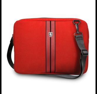 Ferrari 11-12-13  inch Laptoptas type schoudertas for laptop en notebook (messenger tas), 11-12 -13 inch for o.a. HP, Dell, Asus, Acer, Medion, Toshiba, Lenovo, Macbook, Microsoft, Peaq etc., Red , - Urban Collection FEURCSS13RE