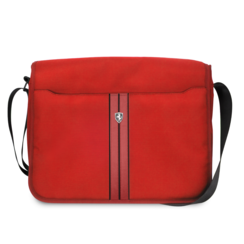 Ferrari Collectie -11-12-13.3-15 inch Laptoptas type schoudertas for laptop en notebook (messenger tas), 11-14 inch for o.a. HP, Dell, Asus, Acer, Medion, Toshiba, Lenovo, Macbook, Microsoft, Peaq etc.,  Kaki - Red Off Track - FEOCECB15KA