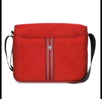 Ferrari 11-12-13-15 inch Laptoptas type schoudertas voor laptop en notebook (messenger tas), 11-12 -13 inch voor o.a. HP, Dell, Asus, Acer, Medion, Toshiba, Lenovo, Macbook, Microsoft, Peaq etc., Rood , - Urban Collection - FEURMB13RE