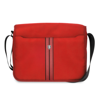 Ferrari Collectie -11-12-13.3-15 inch Laptoptas type schoudertas for laptop en notebook (messenger tas), 11-14 inch for o.a. HP, Dell, Asus, Acer, Medion, Toshiba, Lenovo, Macbook, Microsoft, Peaq etc.,  Kaki - Red Off Track - FEOCECB15KA
