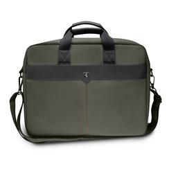 Ferrari 11-12-13.3-15 inch Laptoptas type Umhängetasche für laptop en notebook (messenger tasche), 11-12 inch für o.a. HP, Dell, Asus, Acer, Medion, Toshiba, Lenovo, Macbook, Microsoft, Peaq etc., Kaki Schwarz Off Track - FEOCECB15KA