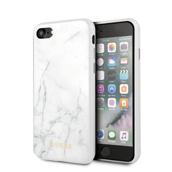 Guess Apple iPhone 7-8  Wit Backcover hoesje - GUHCI8HYMAWH