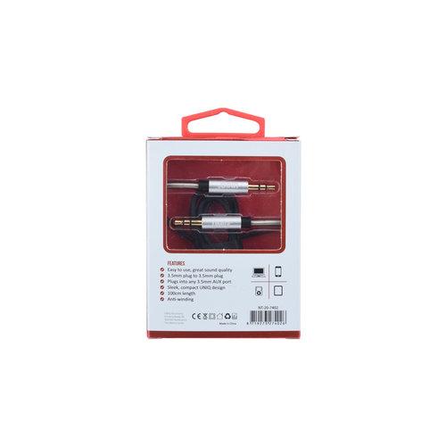 UNIQ Accessory Audiokabel 1.2m Anti-Winding Zwart (8719273249949 )