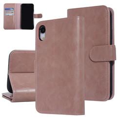UNIQ Accessory iPhone XR Roze Zachte huid Booktype hoesje