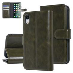 UNIQ Accessory Apple iPhone XR Dark Green Soft Touch Book type case