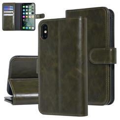 UNIQ Accessory iPhone Xs Max Vert Foncé Doux au toucher Book type housse