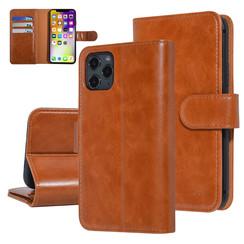 UNIQ Accessory iPhone 11 Pro Marron Foncé Doux au toucher Book type housse