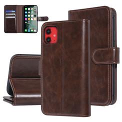 UNIQ Accessory iPhone 11 Bruin Zachte huid Booktype hoesje