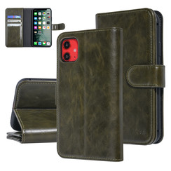 UNIQ Accessory Apple iPhone 11 Dark Green Soft Touch Book type case