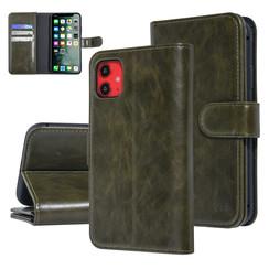 UNIQ Accessory iPhone 11 Vert Foncé Doux au toucher Book type housse