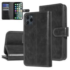 UNIQ Accessory iPhone 11 Pro Max Zwart Zachte huid Booktype hoesje
