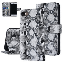 UNIQ Accessory iPhone 7-8 Noir et Blanc Peau de serpent Book type housse