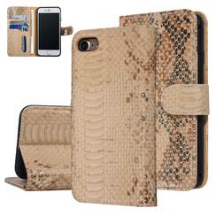 UNIQ Accessory iPhone 7-8 Or Peau de serpent Book type housse