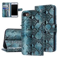 UNIQ Accessory iPhone 7-8 Zwart en Groen Slangenleer Booktype hoesje