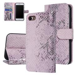 UNIQ Accessory iPhone 7-8 Roze Slangenleer Booktype hoesje