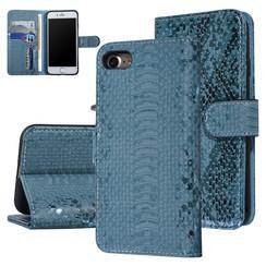 UNIQ Accessory iPhone 7-8 Groen Slangenleer Booktype hoesje
