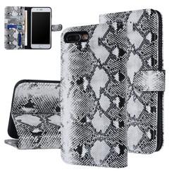 UNIQ Accessory iPhone 7-8 Plus Zwart en Wit Slangenleer Booktype hoesje
