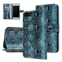 UNIQ Accessory Apple iPhone 7-8 Plus Black and Green Snakeskin Book type case
