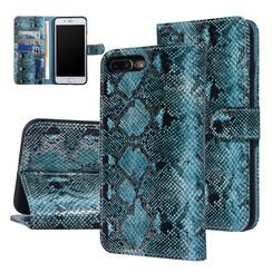 UNIQ Accessory iPhone 7-8 Plus Zwart en Groen Slangenleer Booktype hoesje