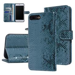 UNIQ Accessory iPhone 7-8 Plus Groen Slangenleer Booktype hoesje