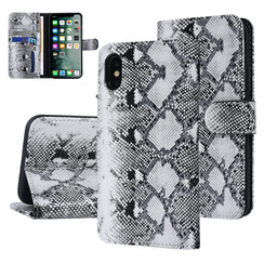 UNIQ Accessory Apple iPhone X-Xs Black and White Snakeskin Book type case