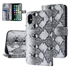 UNIQ Accessory iPhone X-Xs Noir et Blanc Peau de serpent Book type housse