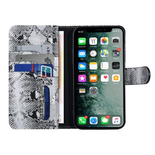 UNIQ Accessory UNIQ Accessory Apple iPhone X-Xs Black and White Snakeskin Book type case