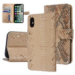 UNIQ Accessory iPhone X-Xs Or Peau de serpent Book type housse
