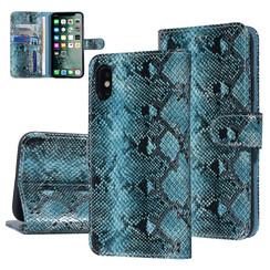 UNIQ Accessory iPhone X-Xs Zwart en Groen Slangenleer Booktype hoesje