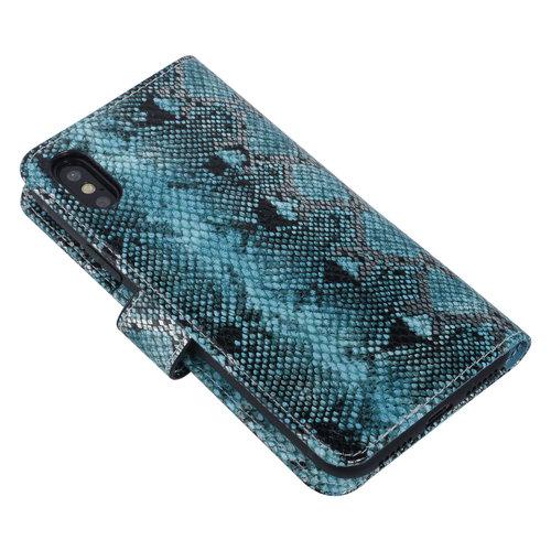 UNIQ Accessory UNIQ Accessory iPhone X-Xs Noir et Vert Peau de serpent Book type housse