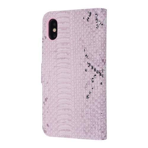 UNIQ Accessory UNIQ Accessory iPhone X-Xs Rose Peau de serpent Book type housse