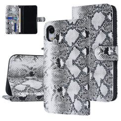 UNIQ Accessory Apple iPhone XR Black and White Snakeskin Book type case