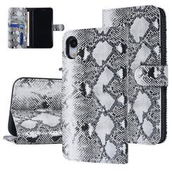 UNIQ Accessory iPhone XR Noir et Blanc Peau de serpent Book type housse