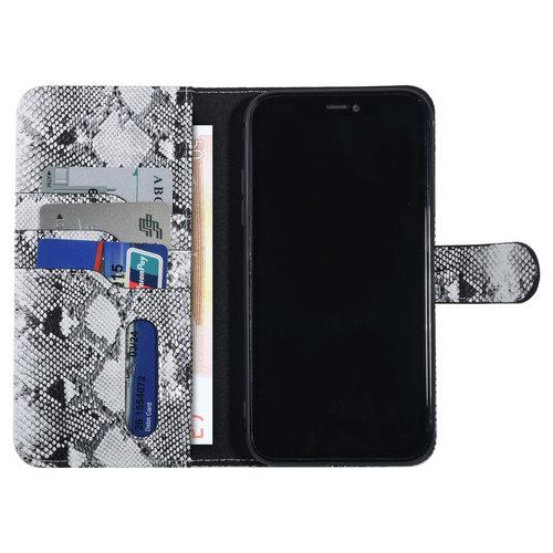UNIQ Accessory UNIQ Accessory iPhone XR Noir et Blanc Peau de serpent Book type housse